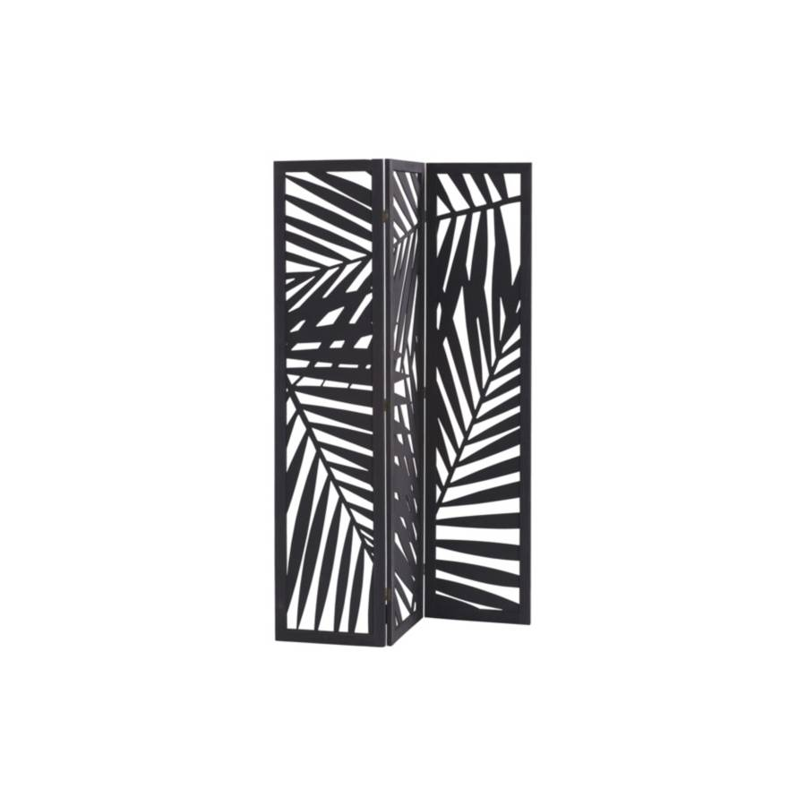 Paravent 120x170 cm FEUILLAGES Noir