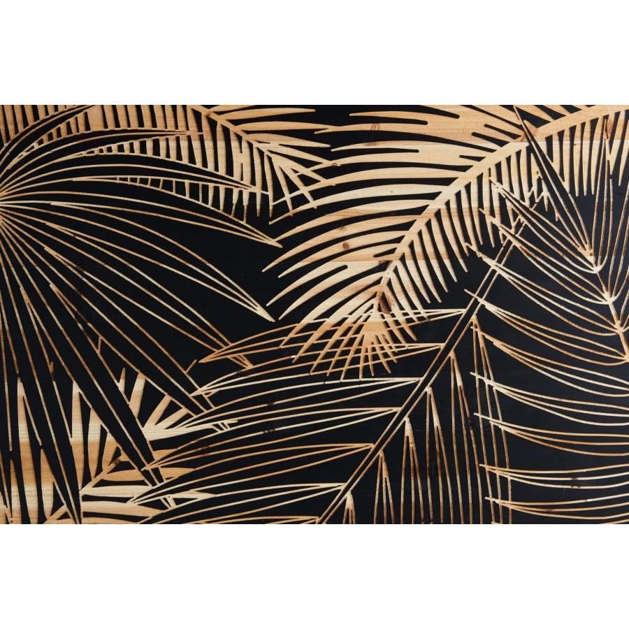 Tableau bois sculpté 90x80cm PALM...