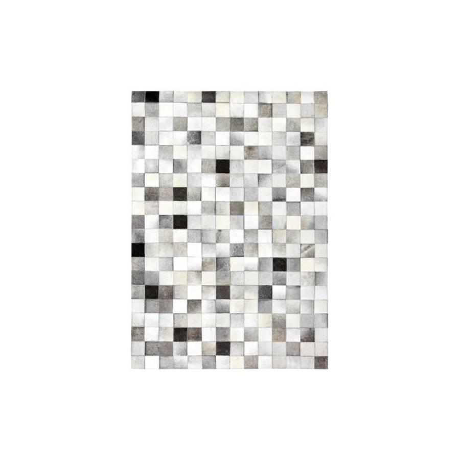 Tapis cuir 140x200 PATCH Gris