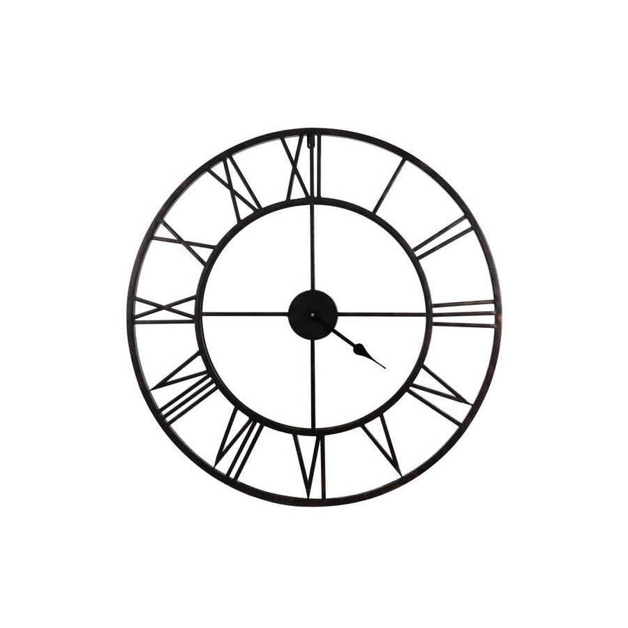 Horloge ø 76 cm STATION Noir