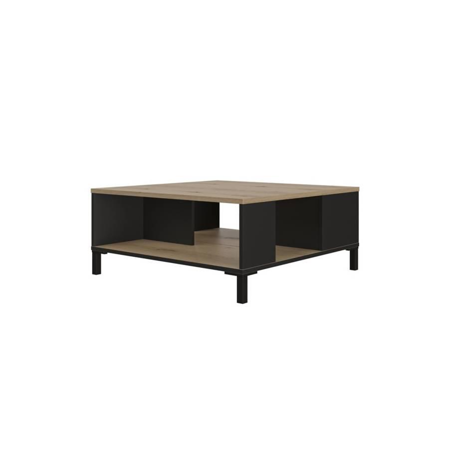 Table basse TRUST chêne/noir
